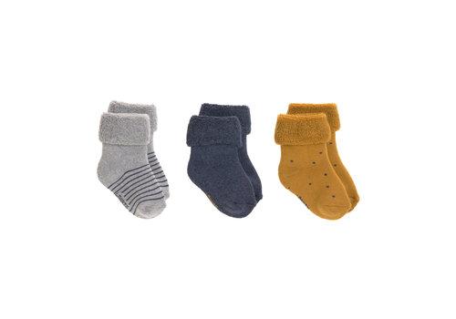 Lässig Newborn Socks GOTS 3 blue