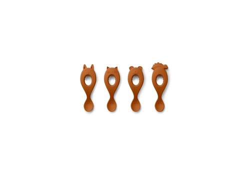 Liewood Liva silicone spoon - 4 pack Mustard