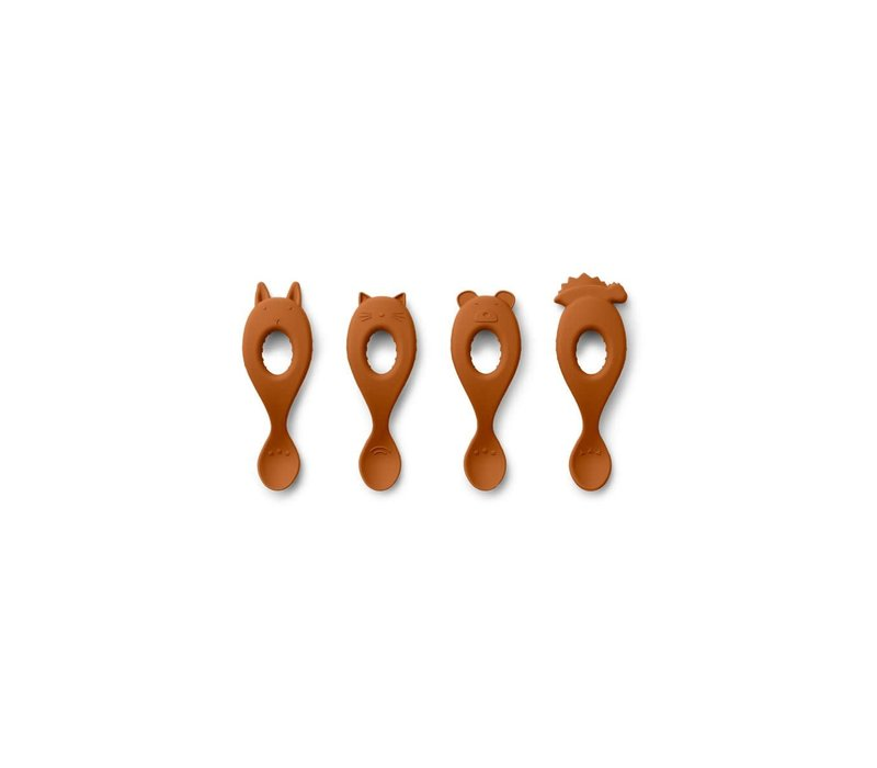 Liva silicone spoon - 4 pack Mustard