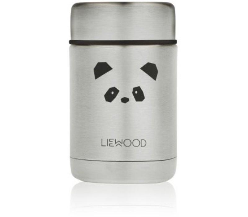 Nadja food jar Panda stainless steel