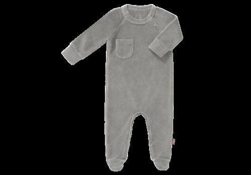 Fresk Velours Playsuit with feet Paloma grey