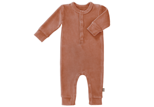 Fresk Velours playsuit no feet  Ash rose