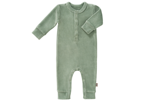 Fresk Velours playsuit no feet Forest green