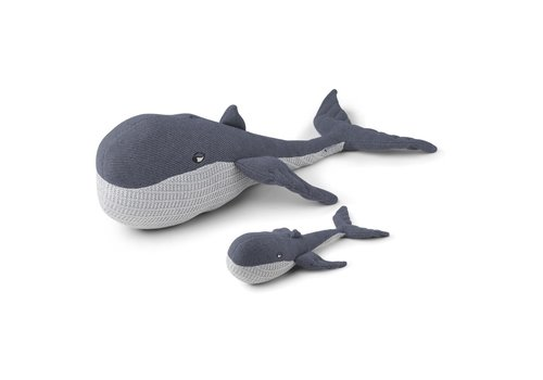 Liewood Doby teddy with baby Whale blue wave