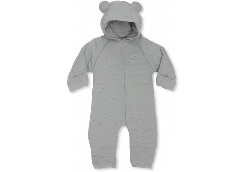 Konges Sløjd Newborn onesie with hood Mille marine French blue