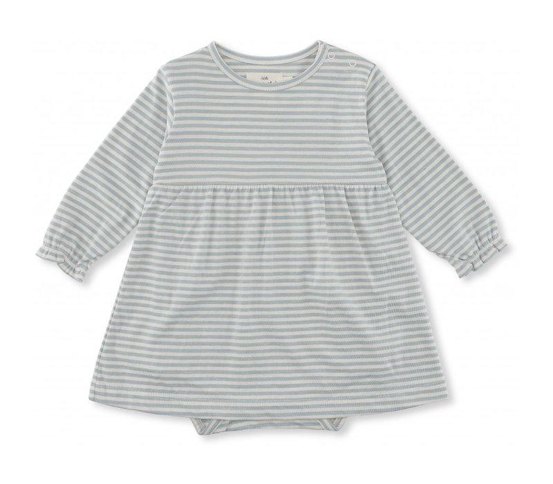 Reya dress French blue stripes