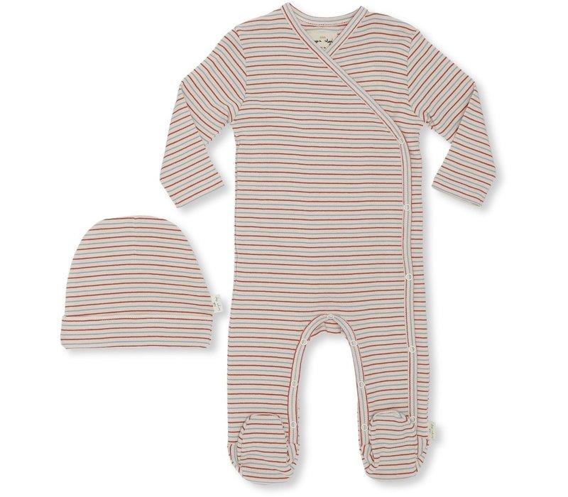 Dio newborn set Tricolore stripes
