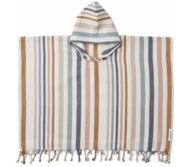 Roomie poncho Stripe multi