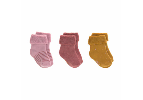 Lässig Newborn Socks GOTS 3 rosewood