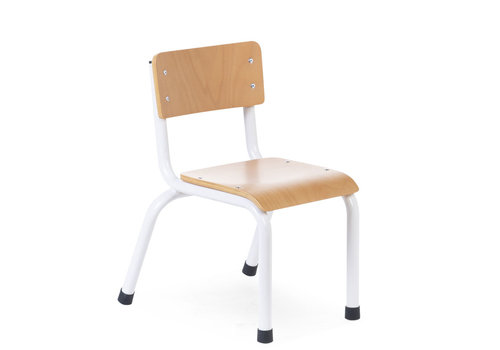 Childhome Small metal wood chair natural white 2pc