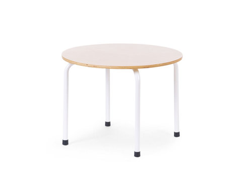 Childhome Small metal wood round table natural white