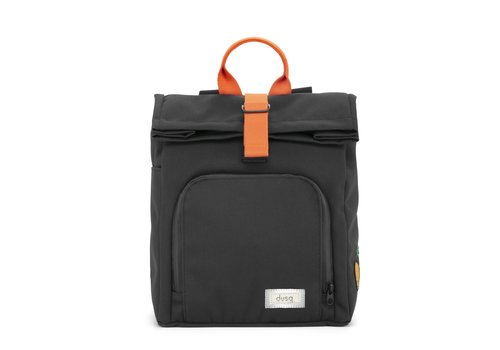 Dusq Mini Bag Canvas Night Black - Fresh Orange