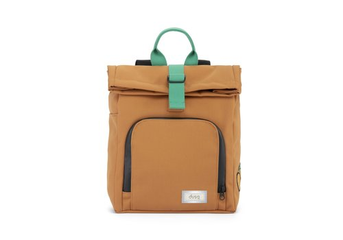 Dusq Mini Bag Canvas Sunset Cognac - Forest Green