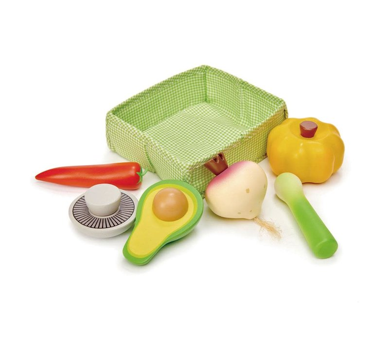 Mandje met groenten