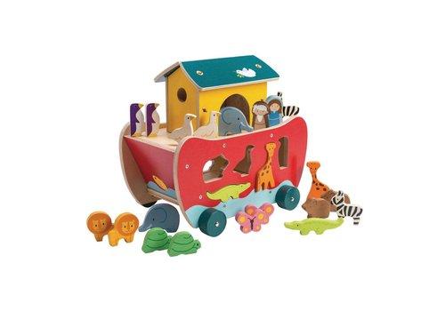 Tender Leaf Toys Sorteerboot Ark van Noah