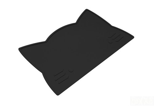 We Might Be Tiny Placemat Cat pure black