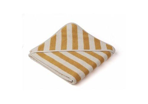Liewood Handdoek Louie 100x100 Yellow mellow/Sandy stripe