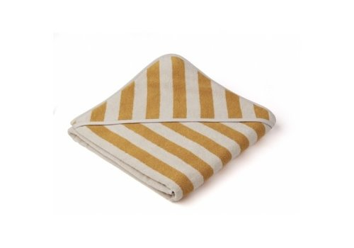 Liewood Louie Hooded towel Yellow mellow/Sandy stripe