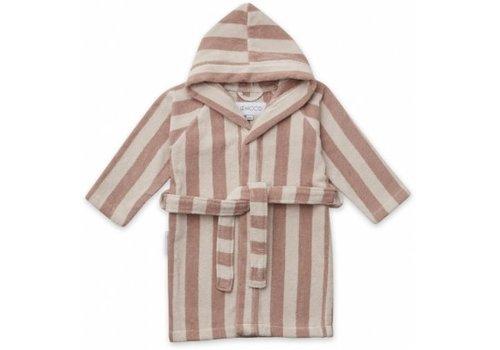 Liewood Reggie bathrobe Rose/sandy stripe