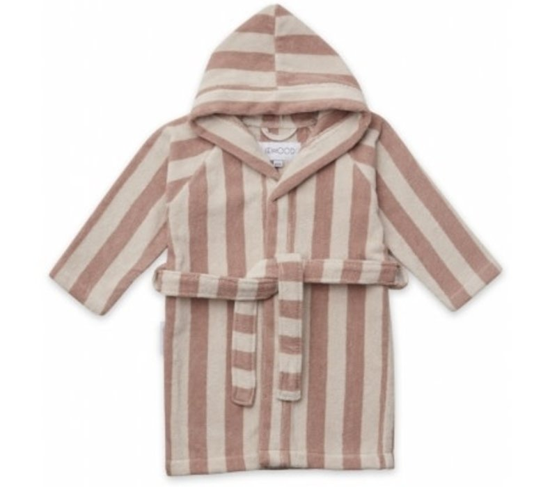Badjas Reggie Rose/sandy stripe