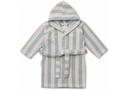 Liewood Badjas Reggie Sea blue/sandy stripe