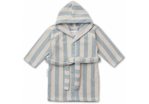 Liewood Reggie bathrobe Sea blue/sandy stripe