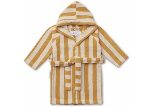 Liewood Reggie bathrobe Yellow mellow/sandy stripe