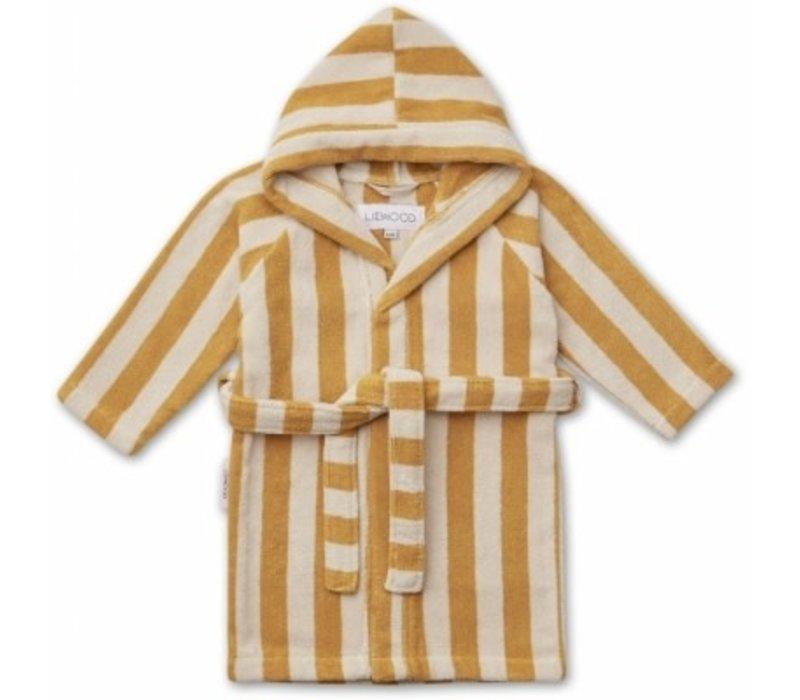 Reggie bathrobe Yellow mellow/sandy stripe