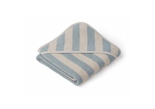 Liewood Handdoek Alba 70x70 Sea blue/sandy stripe