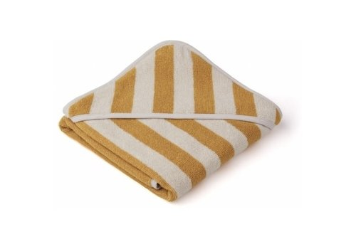 Liewood Alba hooded towel Yellow mellow/sandy stripe