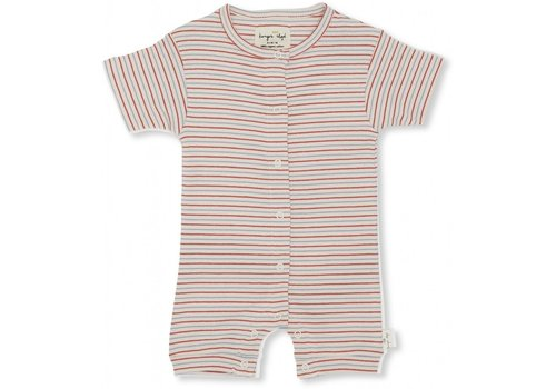 Konges Sløjd Dio onesie short sleeve Tricolore stripes