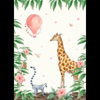 giraffe wallpaper mural