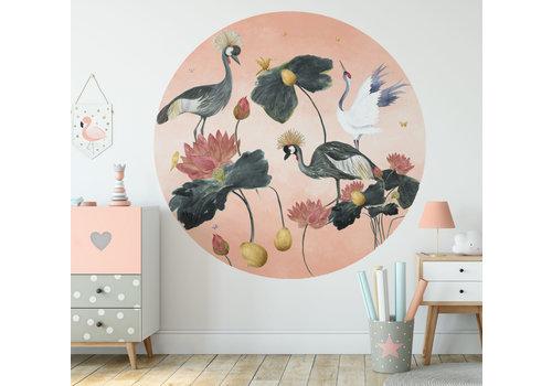 Fleur des Fleurs Crane dance round wallpaper