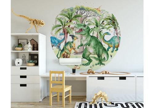 Fleur des Fleurs Dino rock round wallpaper