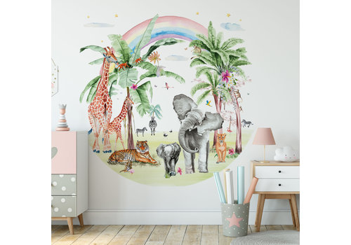 Fleur des Fleurs La Dolce Vita round wallpaper