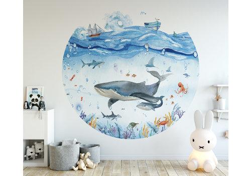 Fleur des Fleurs Underwater world round wallpaper