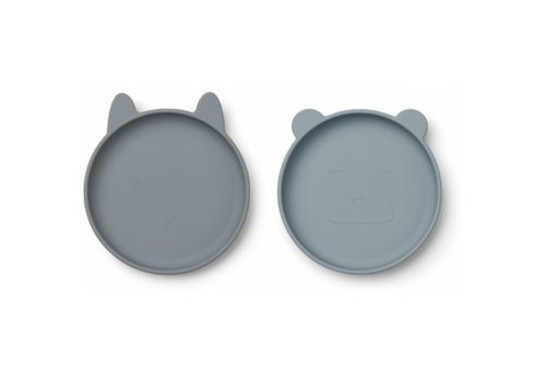Liewood Olivia plate - 2 pack Blue mix