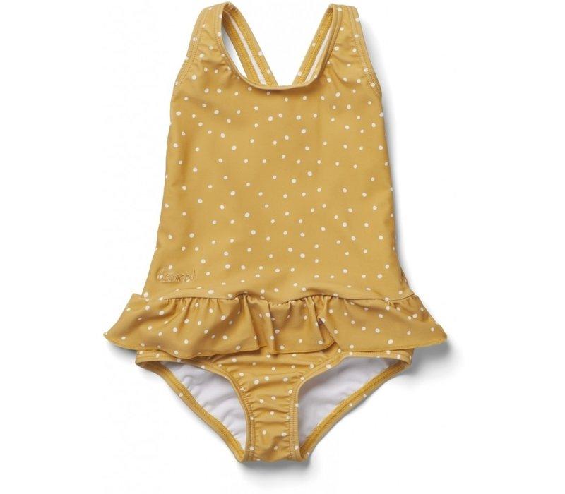Amara swimsuit Confetti yellow mellow