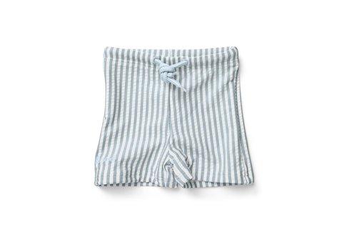 Liewood Zwembroek Otto Stripe sea blue/white