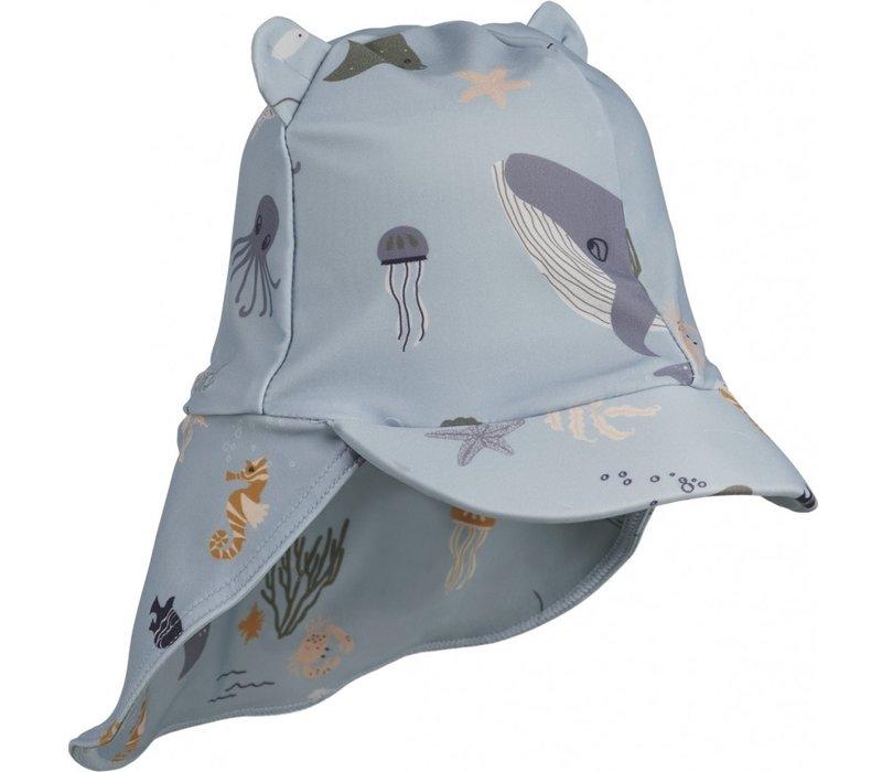 Senia sun hat Confetti Sea creature mix