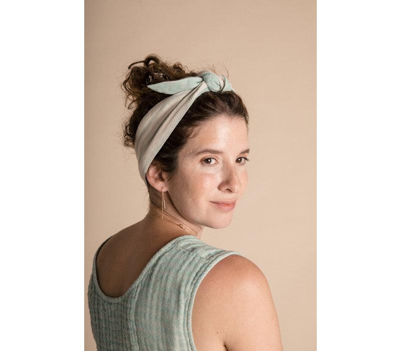 Head Tie - Azure Harlequin