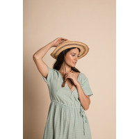 Tansy Dress - Azure Harlequin