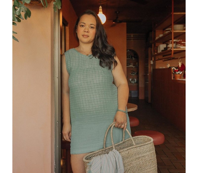 Senna Dress - Azure Harlequin