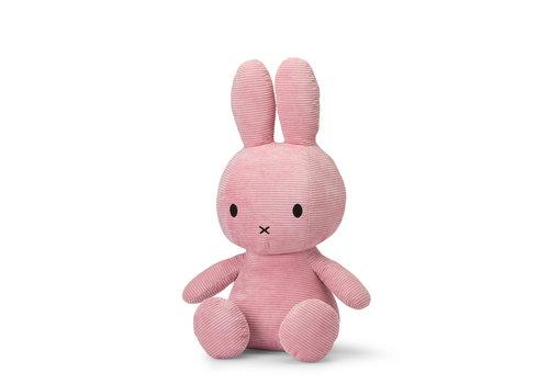 Nijntje Miffy Sitting Corduroy Pink - 70cm