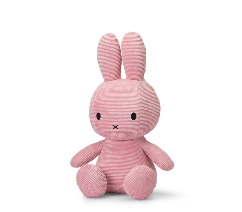 Miffy Sitting Corduroy Pink - 70cm