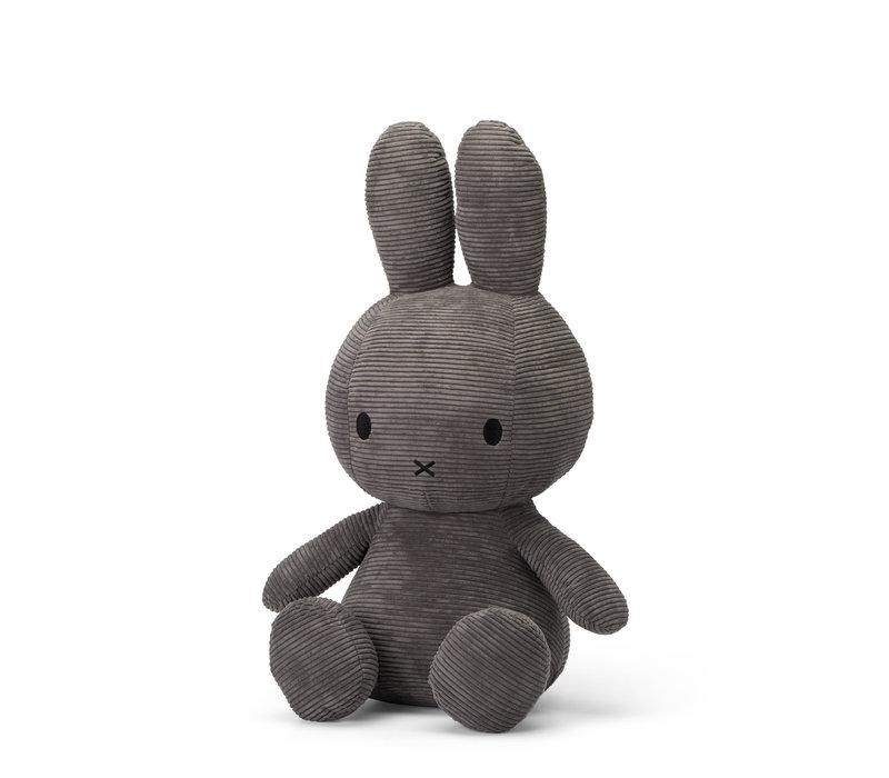 Miffy Sitting Corduroy Grey - 70cm