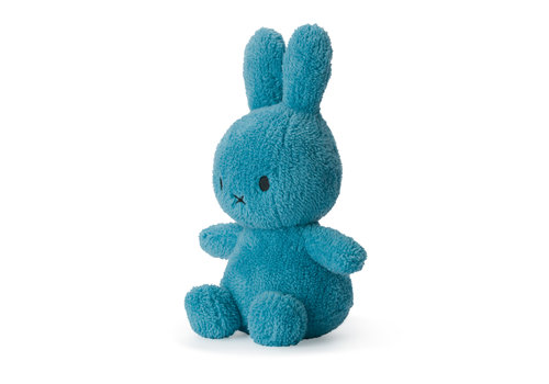 Nijntje Miffy Sitting Terry Ocean Blue - 23cm