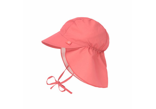 Lässig Sun Protection Flap Hat Coral