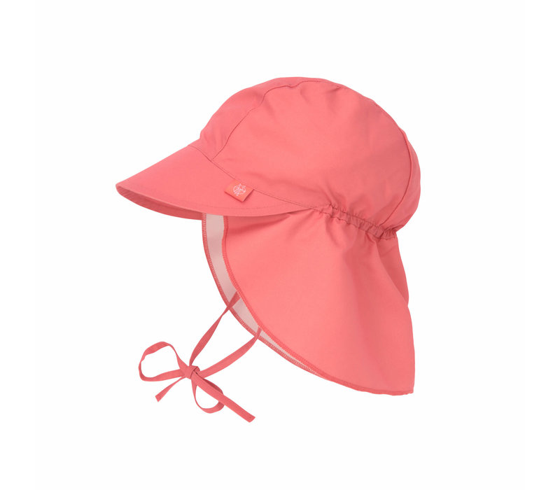 Sun Protection Flap Hat Coral