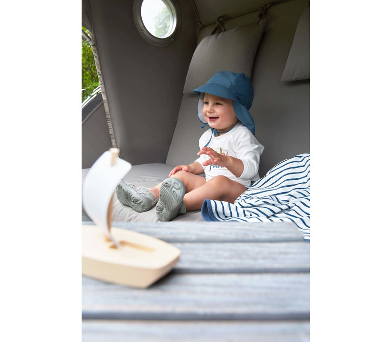 Sun Protection Flap Hat Navy